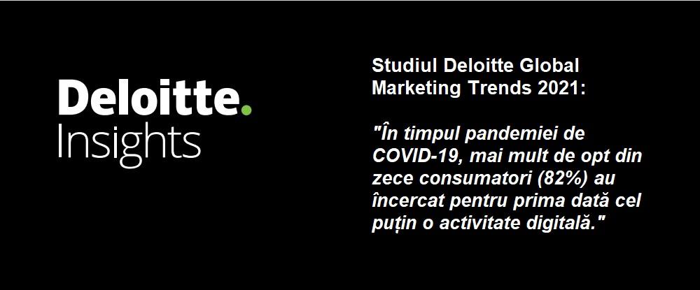 Studiu international Deloitte: aproape doua treimi dintre respondenti declara ca vor continua sa foloseasca mult mai des canalele digitale chiar si dupa ce pandemia se va incheia
