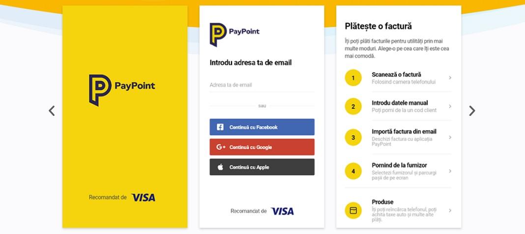Paypoint si-a lansat propria aplicatie de plati cu mobilul – in parteneriat cu Visa