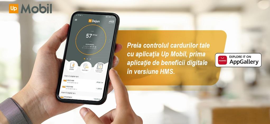 Up Mobil devine prima aplicatie de beneficii digitale cu versiune dedicata pentru utilizatorii Huawei