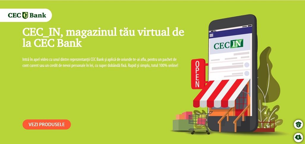 CEC Bank lanseaza creditul de nevoi personale 100% online. Finantarea vine la pachet cu un card Visa, pentru clientii noi.