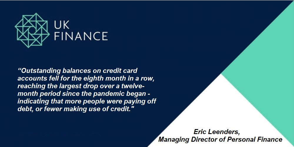 UK Finance – Card spending fell in October. For the balances on credit cards accounts is the eighth successive month in which repayments have outstripped borrowing.