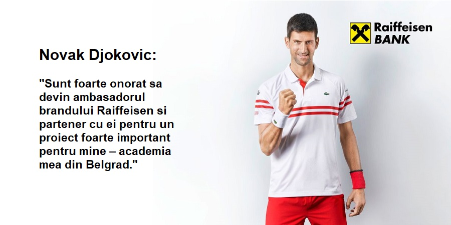 Novak Djokovic si Raiffeisen Bank International semneaza un parteneriat. Tenismenul sarb devine ambasadorul brandului bancar austriac pentru urmatorii trei ani.