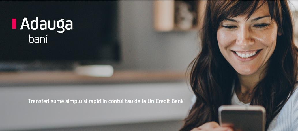 """Portarea salariului este posibila si la Unicredit odata cu lansarea facilitatii """"Adauga bani"""""""